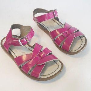 Saltwater Pink Sandals 8 Girls